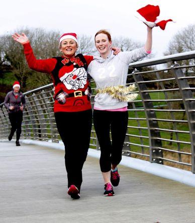 Mayo Roscommon Christmas Jumper run.